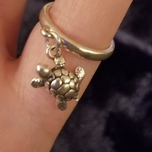James Avery Turtle Dangle Ring